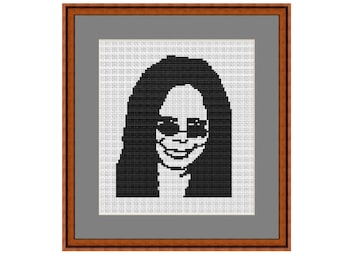Whoopi Goldberg Counted Cross Stitch Pattern. PDF Instant Download. Begginers Pattern.