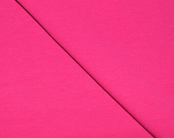Jersey fabric Cotton-spandex solid fushia (in multiples of 20cm)