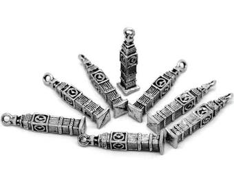 5 Big Ben charm in antique silver