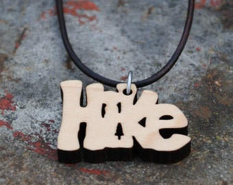Wooden Hike Necklace Outdoorsman and Adventurer Jewelry Gift for Explorers