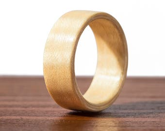 Maple Bentwood Ring, wooden ring, wood wedding ring, wedding band, engagement ring, mens wooden ring, Handmade