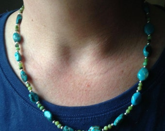 Fun and affordable real turquoise necklace