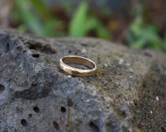 Custom 14k gold filled hammered wedding band