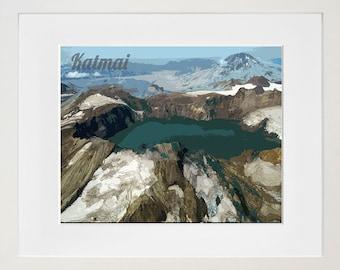 Katmai National Park Poster Alaska Travel Art Print Home Decor (ZB13)