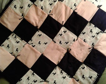 Pink Poodle Baby Quilt