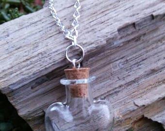 Heart Bottle necklace