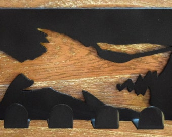 Metal Art fish  Key Rack