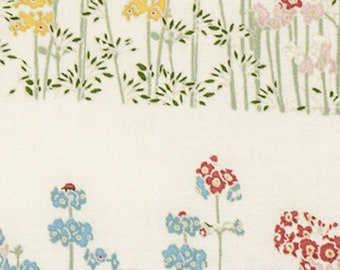 Japanese Tenugui Towel Cotton Fabric, Fresh Primula, Emily Burningham, Hand Dyed Fabric, Botanical Modern Art Fabric, Home Decor, h437
