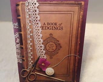 "Vintage ""A Book of Edgings"", Original(NOT PDF) Coats & Clark Book No. 305, Art of Crocheting Edging, Knitting or Tatting, Craft Supplies"