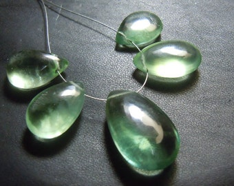 Fluorite Briolette Smooth Pear Drops Gemstone 5Pc  AAA Quality  Huge Size - 18 To 25MM  Wholesale Price