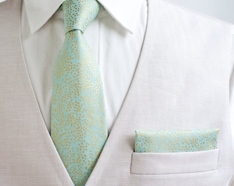 Necktie, Neckties, Mens Necktie, Neck Tie, Floral Neckties, Groomsmen Necktie, Groomsmen Gift, Ties, Rifle Paper Co - Champagne Mint