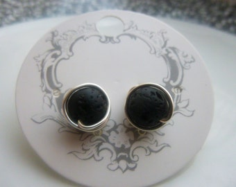 Lava Rock Earings/Essentiol Oil Diffuser Earings