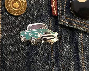 Vintage 1950s GMC Pick Up Truck Enamel Lapel Pin