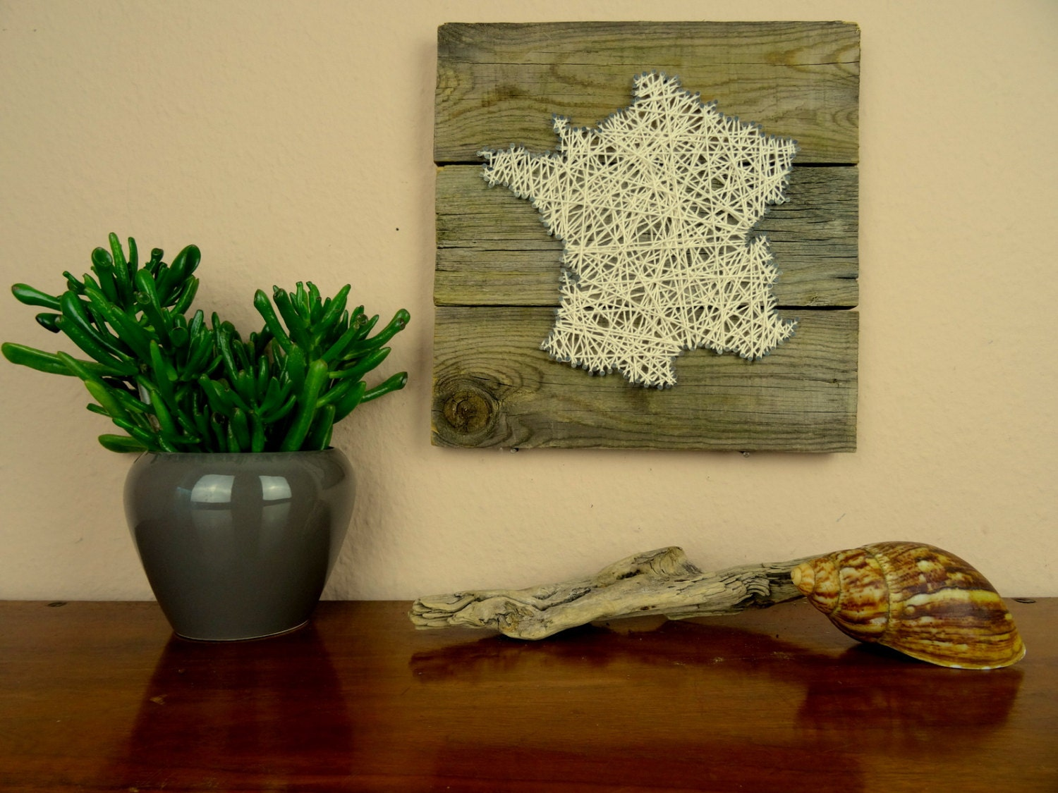 France Map String Art Rustic Home Decor French Country