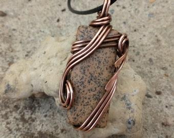 brown copper pendant