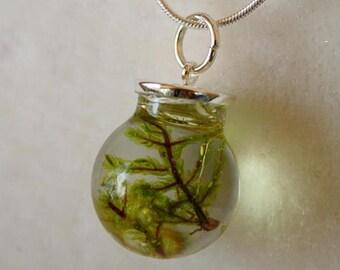 Sale 20% Rabais Forest moss necklace, moss necklace, green necklace, moss pendant, forest pendant, botanical pendant, nature necklace, natur