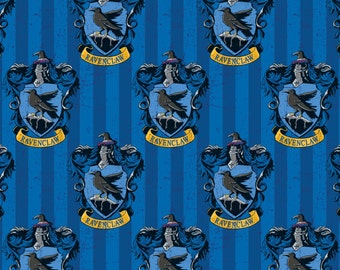 Harry Potter Ravenclaw Crest Digital Camelot Cotton Woven Fabric by the yard