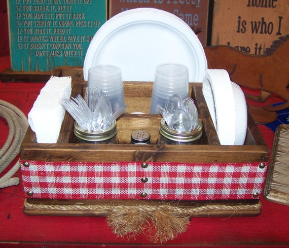 Like this item? & Country western rustic tableware utensil caddy organizer party