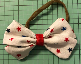 Red, White and Blue Baby Hair Bow