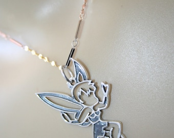 Tinkerbell pendant etsy 925 sterling silver tinkerbell pendant super cool super cute aloadofball Gallery