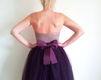 SKIRT Tulle Tutu with Satin Bow Custom Personalized
