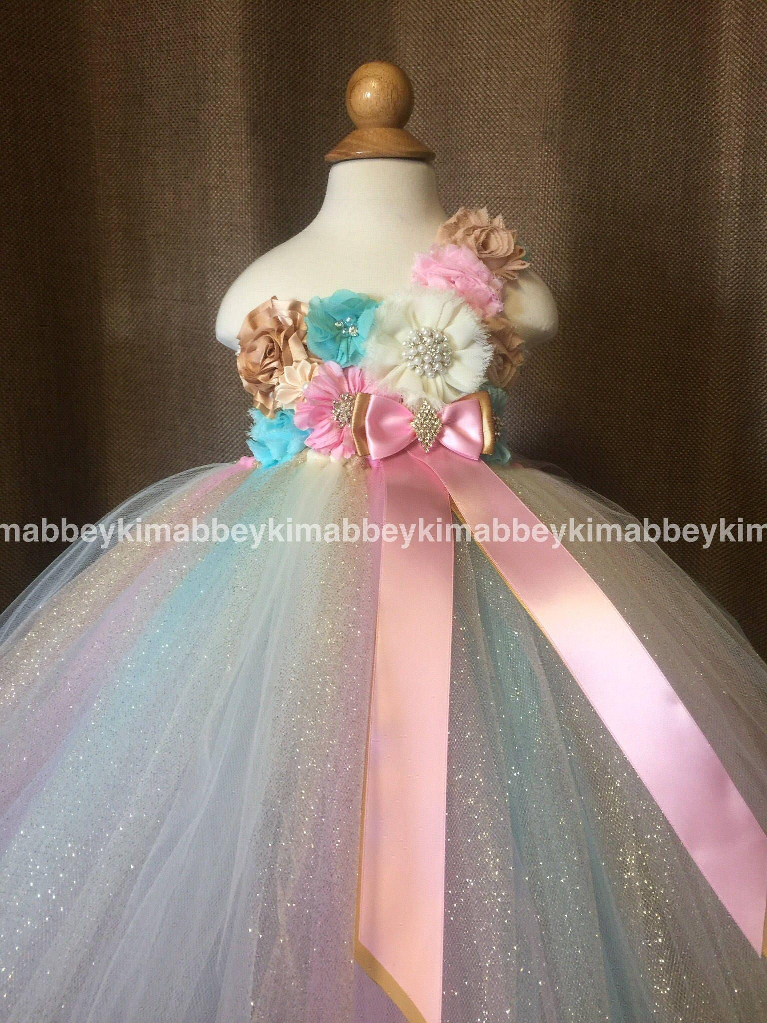 Beautiful Princess Tutu Dress Birthday Dressflower Girl
