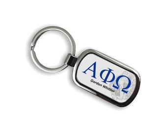 Alpha Phi Omega Chrome Crest Key Chain