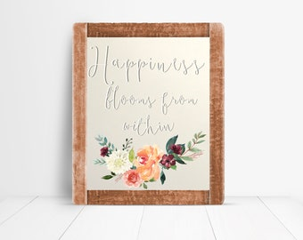 Happiness Blooms Within Digital Print