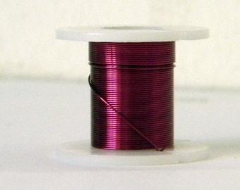 1 reel of 0.3 mm purple colored copper wire (3 M)