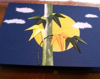 Handmade Origami Bamboo Greeting Card