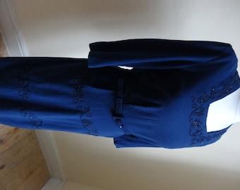 Vintage 1940's Dress . Beaded