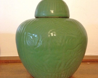 Antique Zanesville Teco Ginger Jar Pottery Mission Arts & Crafts