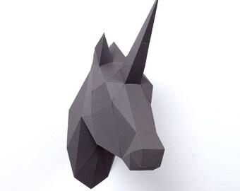 Unicorn 3D Origami: precut, prefold, with no glue
