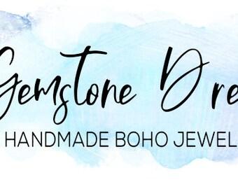 Watercolor  boho  logo design premade