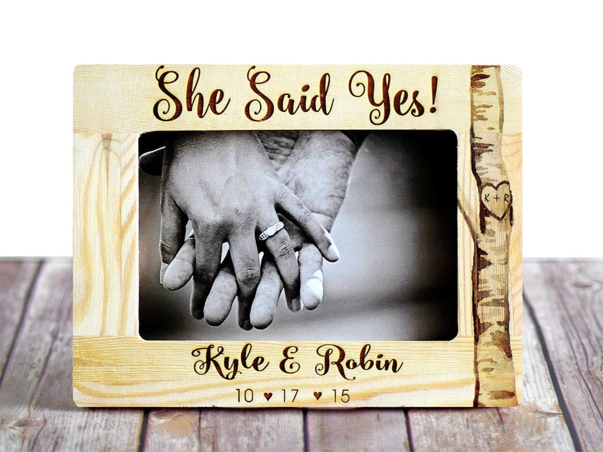 Engagement Gift to Couple Personalized Engagement Picture Frame ...