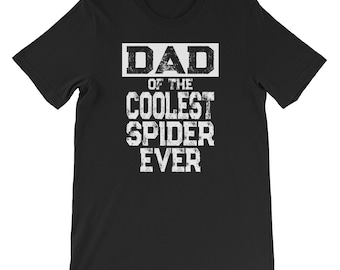 Personalized Pet Shirt Dad of the Coolest Spider Ever Customized Pet Gift Spider Shirt Spider Lover Gift