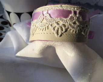 Leather & Lace Cuff ~ Bohemian ~ Romantic