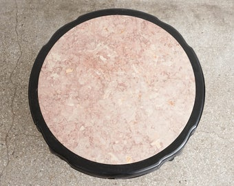 Vintage Marble & Lacquer Coffee Table