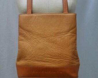 BALENCIAGA vintage 80s cognac leather tote bag