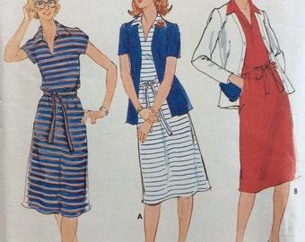 Butterick 5861 misses sheath dress with jacket and belt size 14 bust 36 vintage 1970's sewing pattern  Uncut  Factory folds