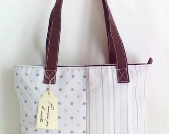 Polka dots and Stripes fancy bag