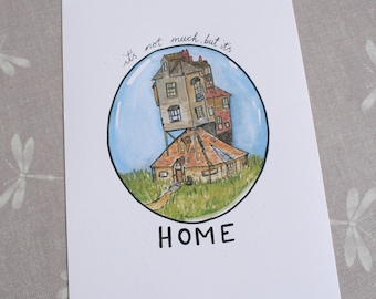"""A4 Print Harry Potter Inspired: The Burrow """"It's not much, but it's Home"""""""