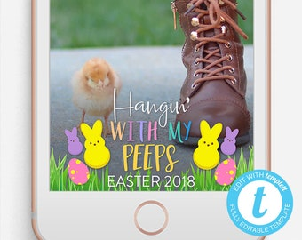 Easter Geofilter, Easter Filter, Hangin With My Peeps, Hanging With My Peeps Filter, Chillin with my peeps filter, Easter, Easter peeps,