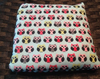 Adorable Owl Rice Bag , Heating Pad, Microwave Hot / Cold Pack, Heat Therapy, Rice Bag, Natural Pain Relief, Idea for Women