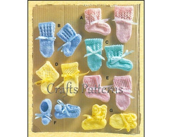 Knitting Baby BOOTIES Patterns, Baby booties pattern, knit, baby booties patterns, 6 styles