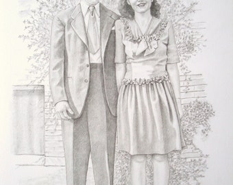 Custom Pencil Portrait Commission