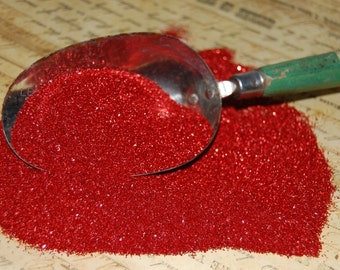 Ruby Slippers Red Glass Glitter