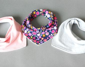 Baby bibs handmade, Bandana bib set, Baby girl gift, Bib set for girl, Bandana bibs for girls, Baby girl bibs, Baby bandana bib, Girl gifts