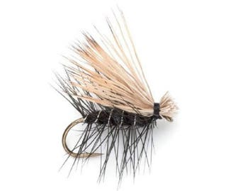 Black Elk Hair Caddis Classic Dry Fly - Hook Size 12 - Hand-Tied Fly Fishing Trout Flies