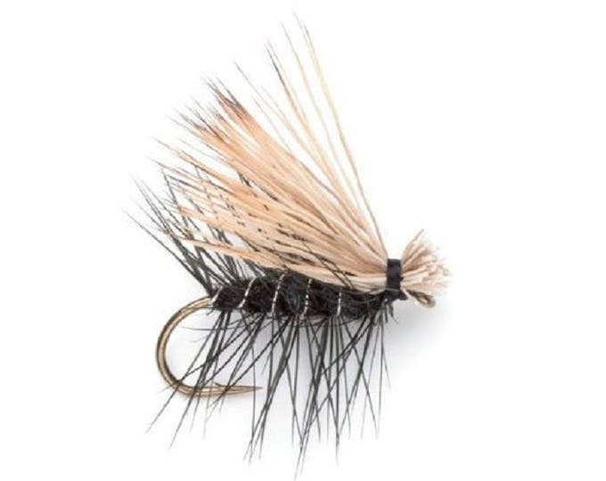 Black Elk Hair Caddis Classic Dry Fly - Hook Size 14 - Hand-Tied Fly Fishing Trout Flies